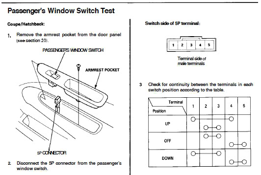 honda civic window wiring diagram