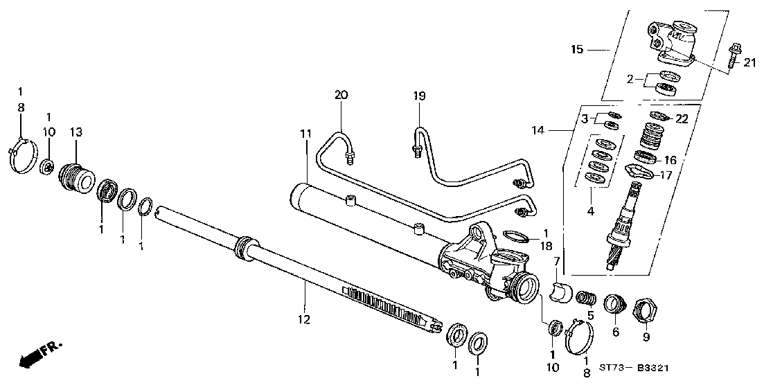acura steering diagram
