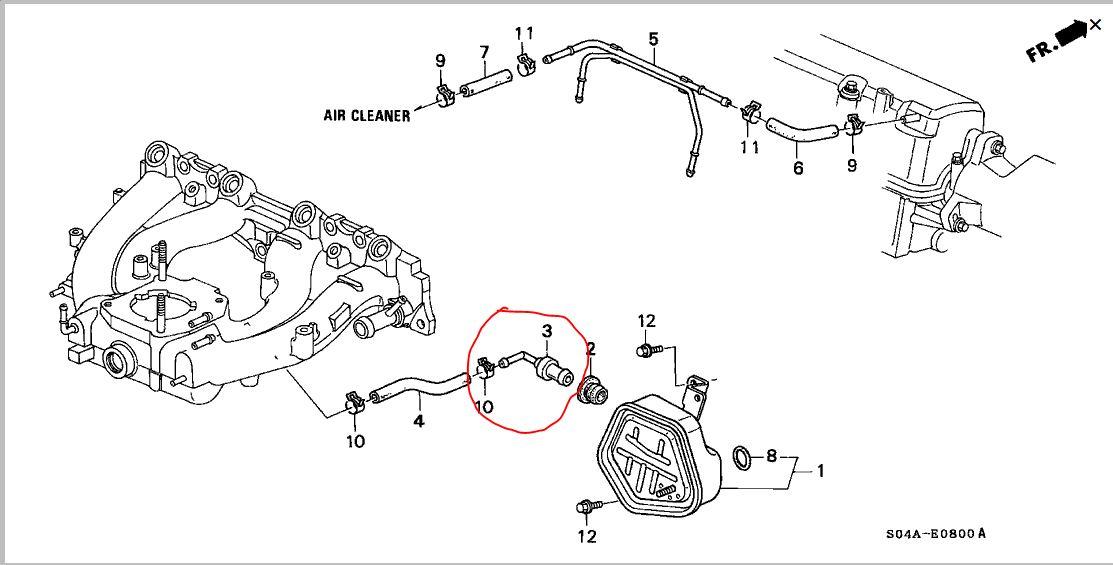 1992 honda civic lx Motor diagram