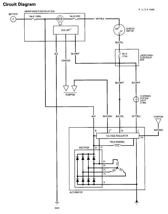 2001 Honda Alternator Wiring Diagram - Wiring Diagrams
