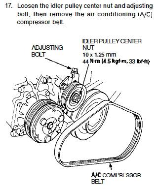 AC belt gone - How install new one? - Honda-Tech - Honda Forum