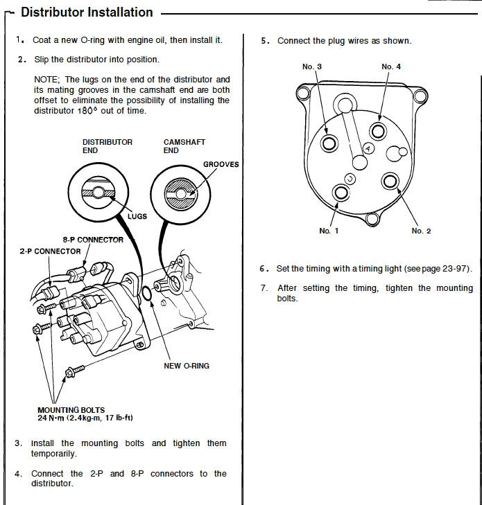 97 Honda Civic Distributor Wiring Wiring Diagram