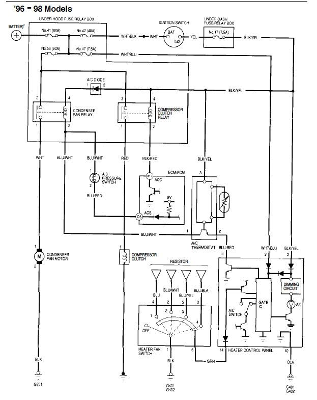 2009 honda civic electrical schematic
