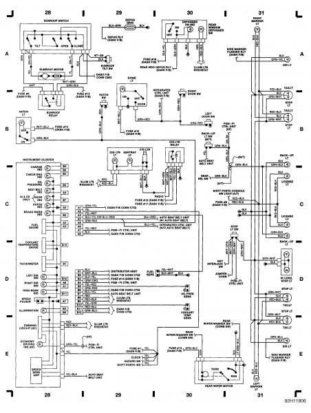 92 honda accord wiring diagram for stereo
