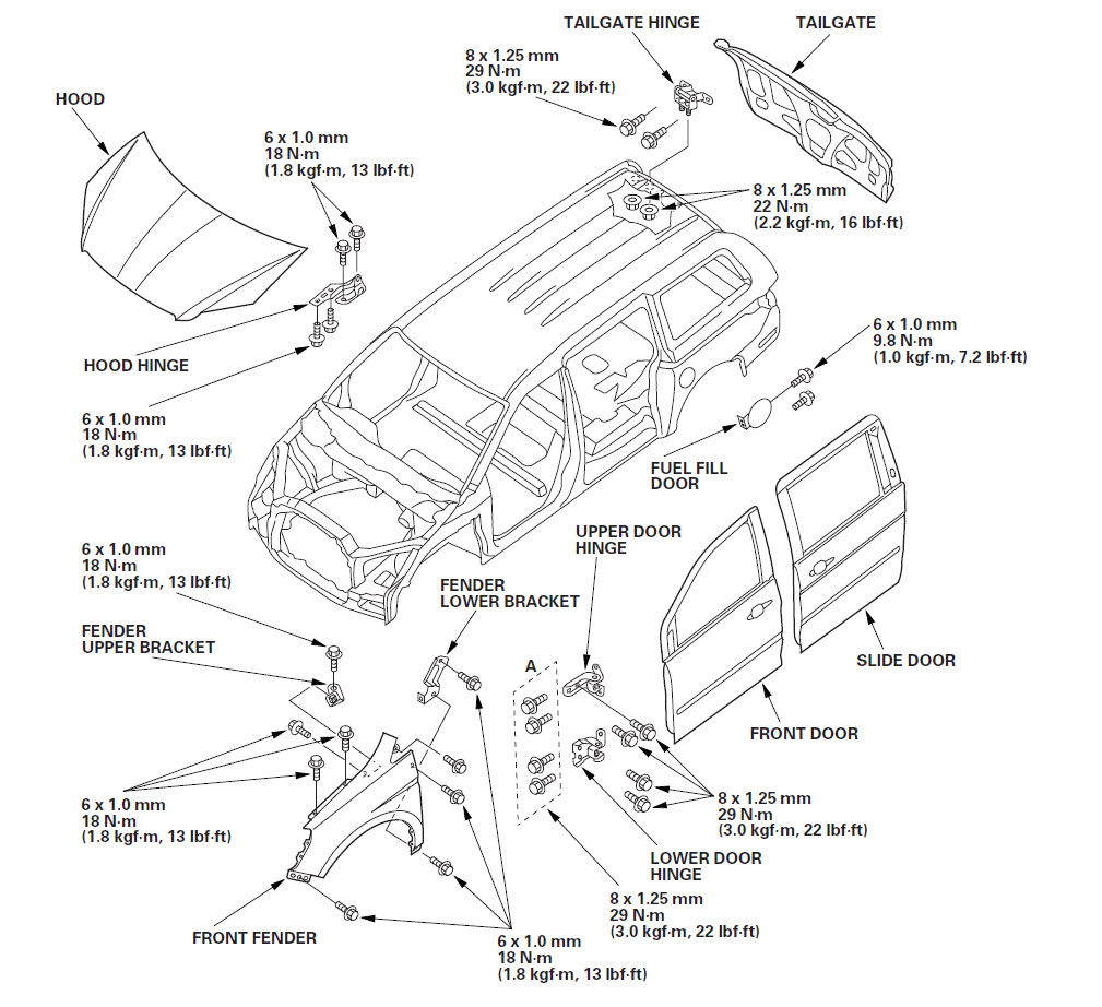 honda accord side mirror diagram