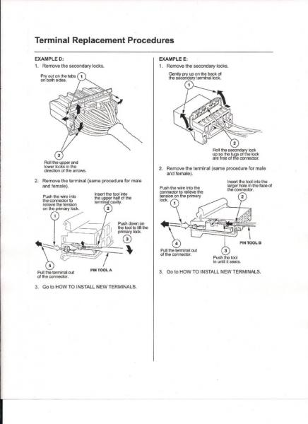 Pics of How to Remove Pins in Honda Wire Harnesses - Honda-Tech