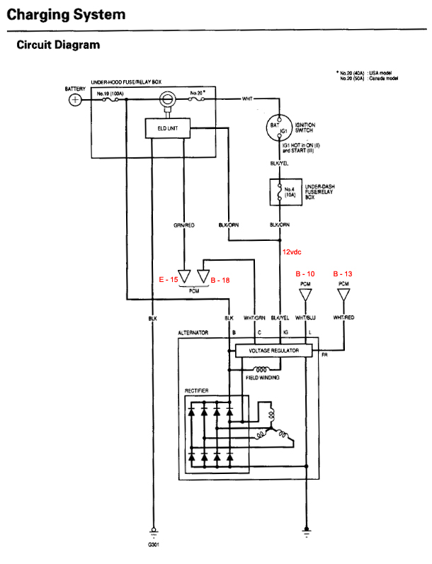2001 honda civic alternator wiring diagram