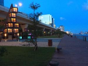 Kwun Tong Promenade de noche