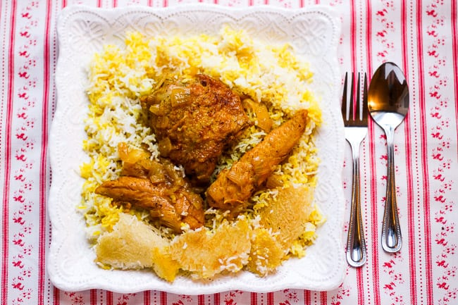 Chicken and Rice (Morgh Polo) Chicken and Rice (Morgh Polo)