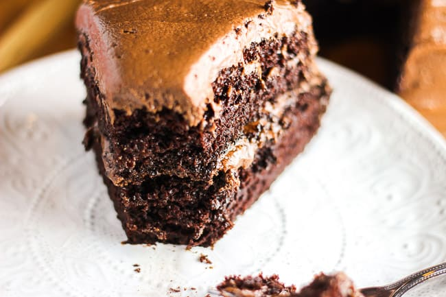 Soft and Fudgy Chocolate Cake with Chocolate Frosting