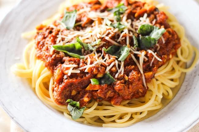 Spaghetti with Beef and Marinara