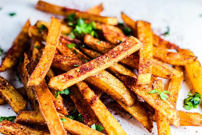 Sumac French Fries with Umami Ketchup and Sour Cream & Garlic Chive Dips