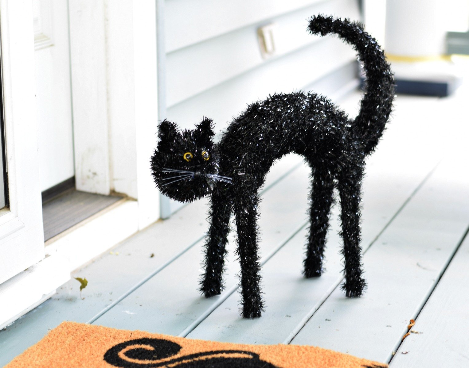 Black Cat Decorations How To Get Your Porch Halloween Ready Without Breaking
