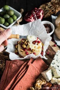 Pomegranate Baked Brie Cheese Board  Honest Cooking