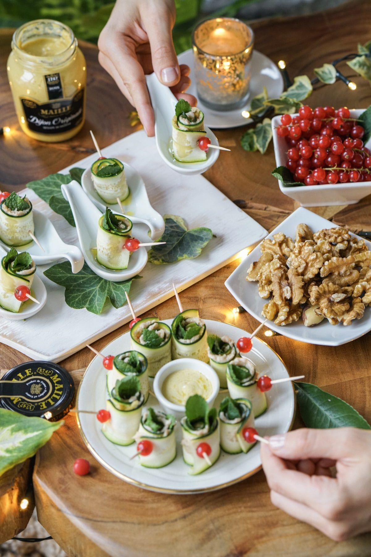 Healthy Christmas Appetizers Pinterest Holiday Party Finger Food Gluten Free Zucchini Rolls