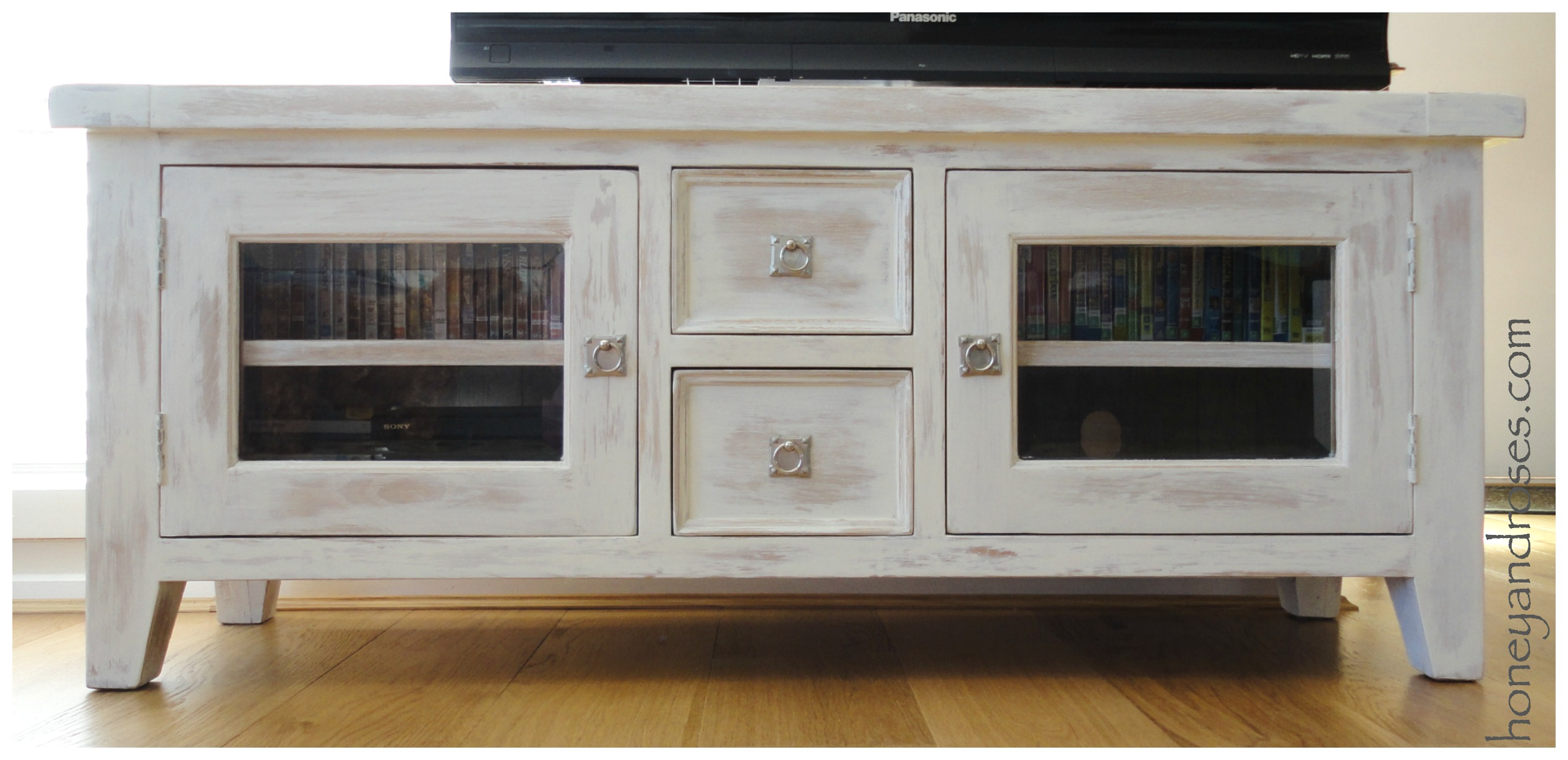 Tv Bank Diy Makeover Of A Tv Unit With Chalk Paint Honey Roses