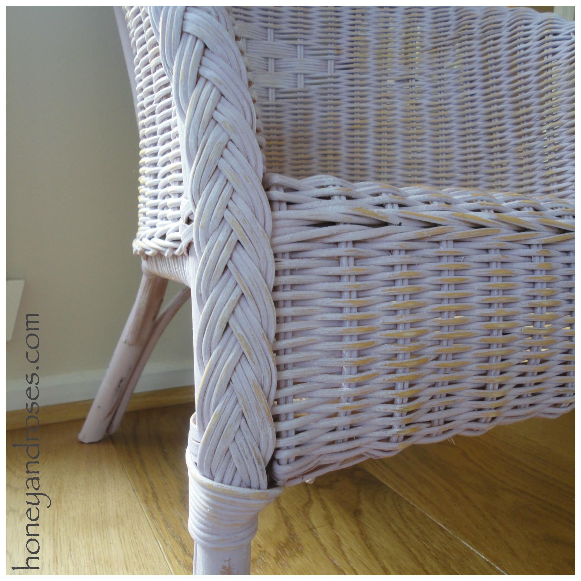 Painted Rattan Furniture How To Paint A Wicker Chair With Chalk Paint Honey Roses
