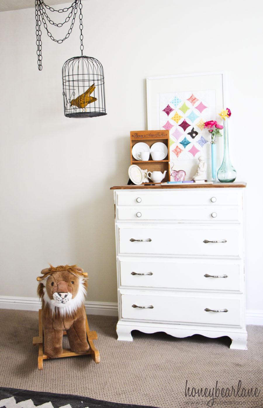 Cheap Black Dresser Vintage Circus Nursery Reveal! - Honeybear Lane
