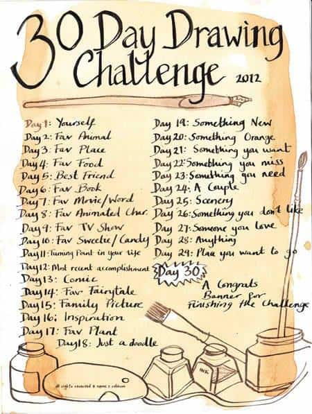 30-day-drawing-challenge