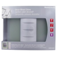 Honeywell Decor Wired Door Chime with Glass/Metal Design ...