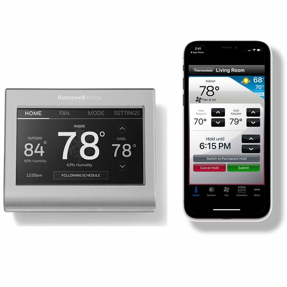 Honeywell Programmable Thermostat Honeywell Rth9585wf1004 Wi Fi Smart Color 7 Day Programmable Thermostat