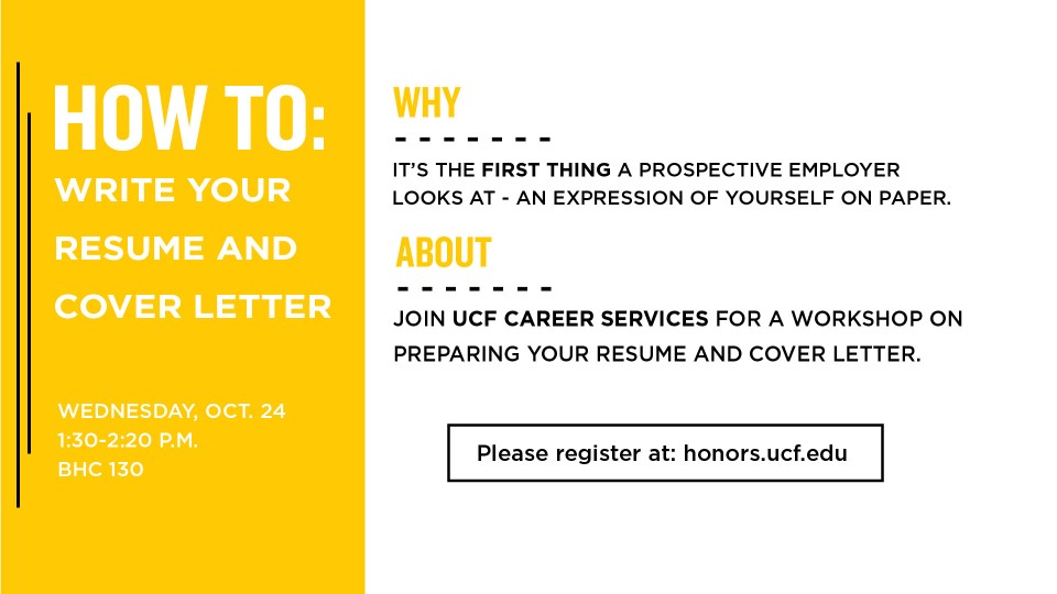 How To Write Your Resume and Cover Letter \u2013 Honors Site