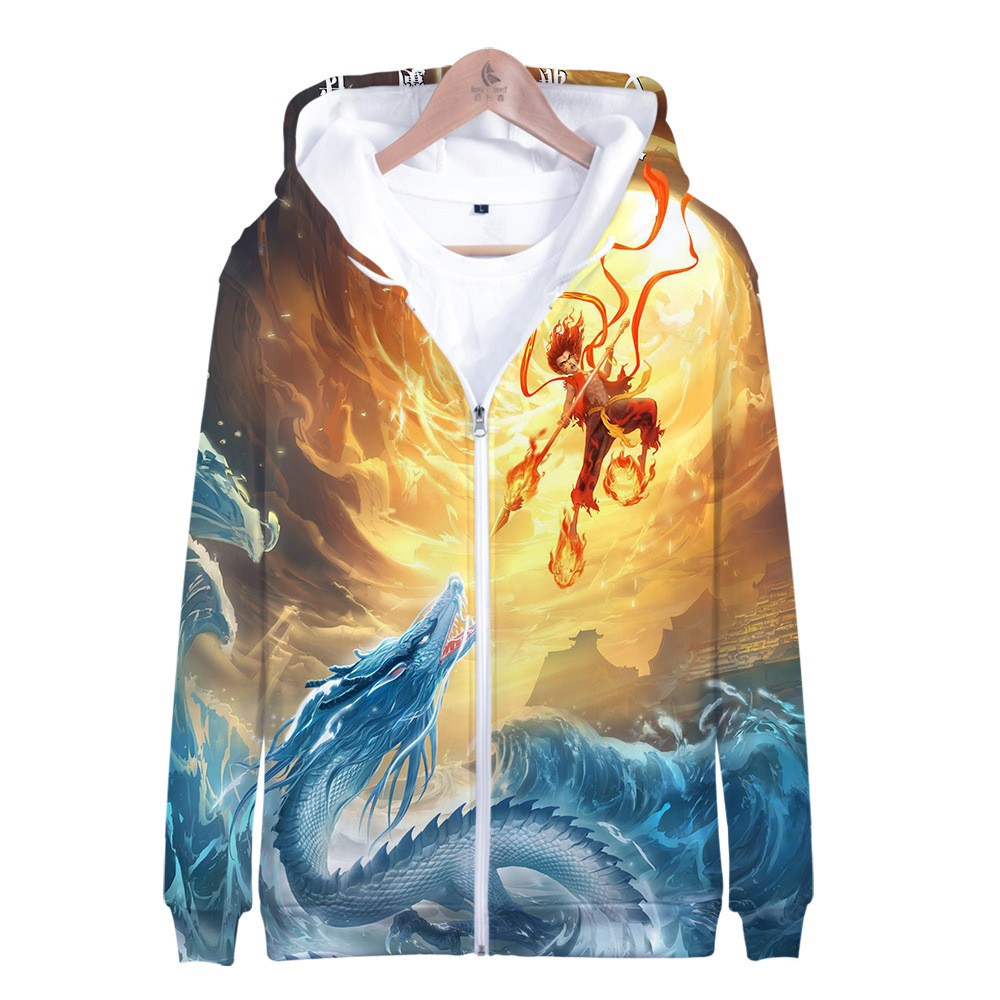 Pullover Hoodie Vs Zip Up Ne Zha Hoodies Nezha Vs Ao Bing Hoodie 3d Zip Up Jacket