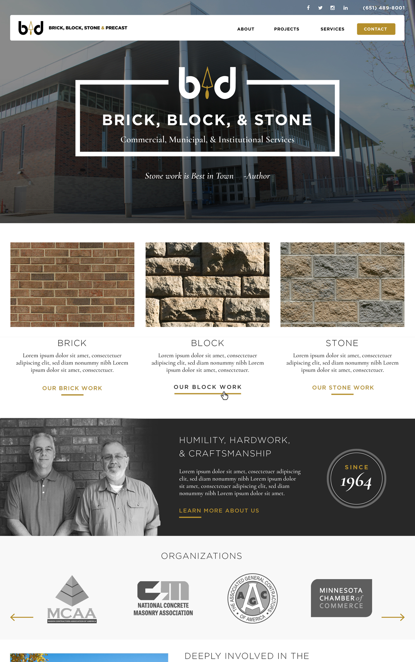 Masonry Companies General Contractor Websites 11 Incredible Examples Hook Agency