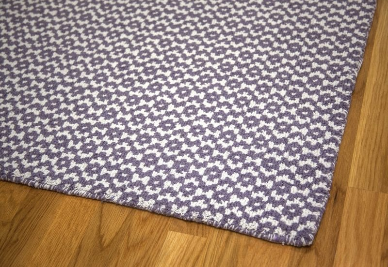 Toulouse Lavender White Eco Cotton Loom Hooked Rug Hook