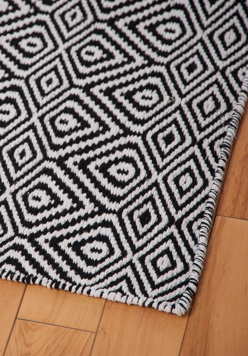 Large Of Black And White Rug