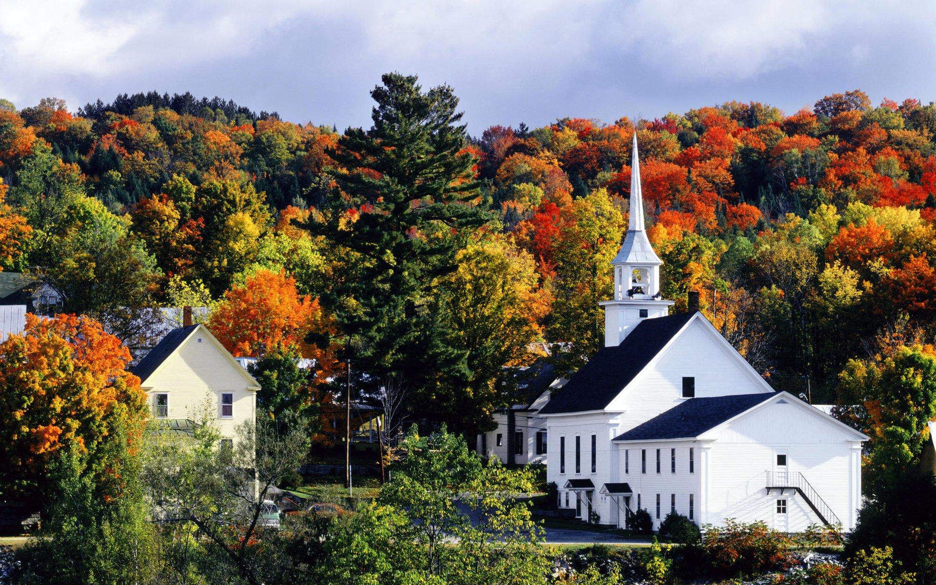 Late Fall Desktop Wallpaper Autumn In New England
