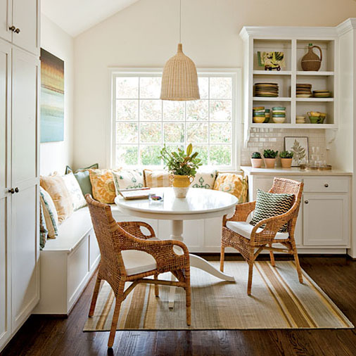 angled corner banquette_great wicker chairs bucatarie