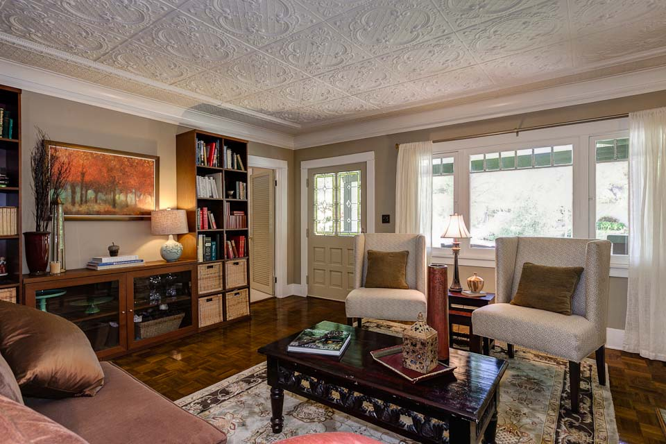 living room-Craftsman in Pasadena - Hooked on Houses - craftsman living room
