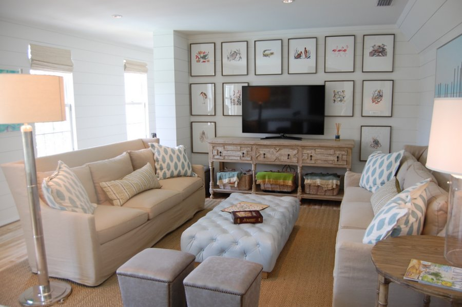 Coastal Living Ultimate Beach House-game room - Hooked on Houses - beach house living room