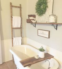 Rustic farmhouse style bathroom design ideas 62 - Hoommy.com