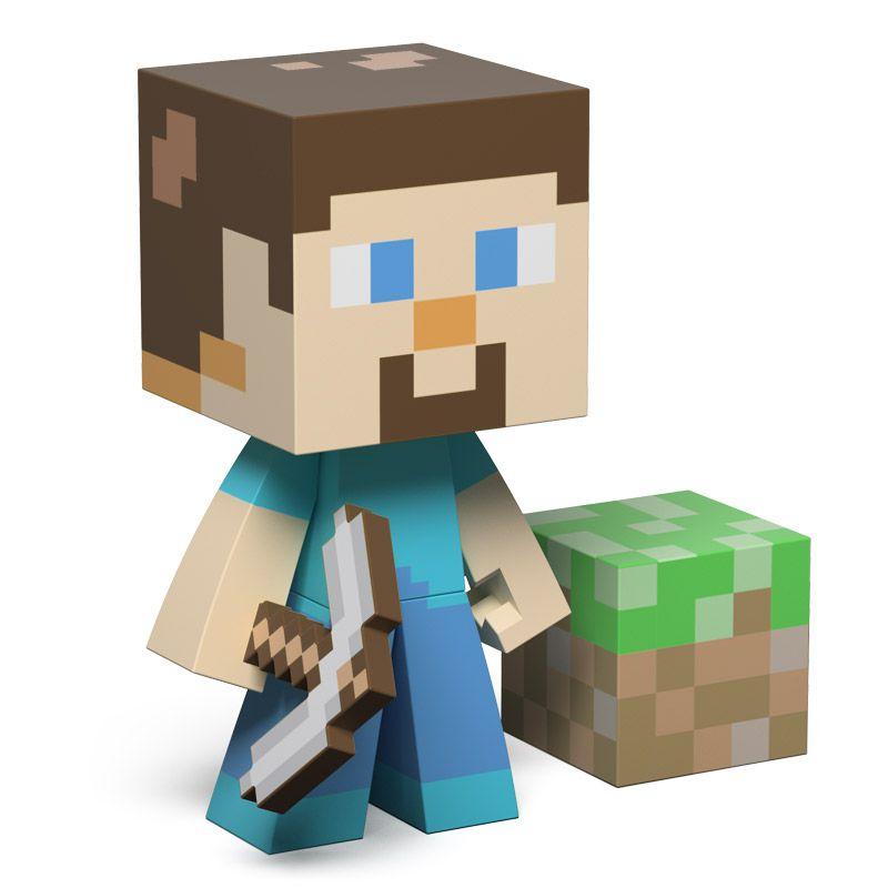 3 figurines Minecraft : Steve, Steve Diamond et Creeper