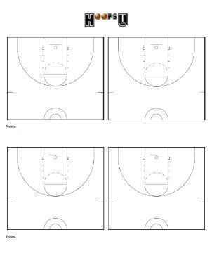 Basketball Court Diagrams | Printable Basketball Court ...