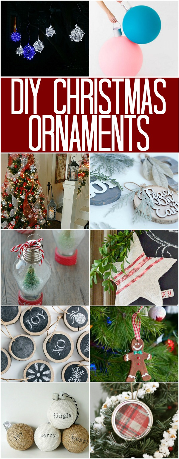 Diy Christmas Ornaments Diy Christmas Ornaments 100 Days Of Homemade Holiday Inspiration