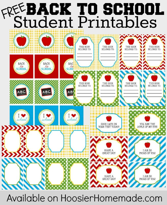 Back to School Printables for Teachers and Students - Hoosier Homemade