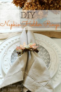 Grapevine Wreath Napkin Rings - Hoosier Homemade