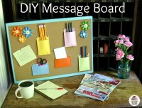 DIY Message Board - Hoosier Homemade