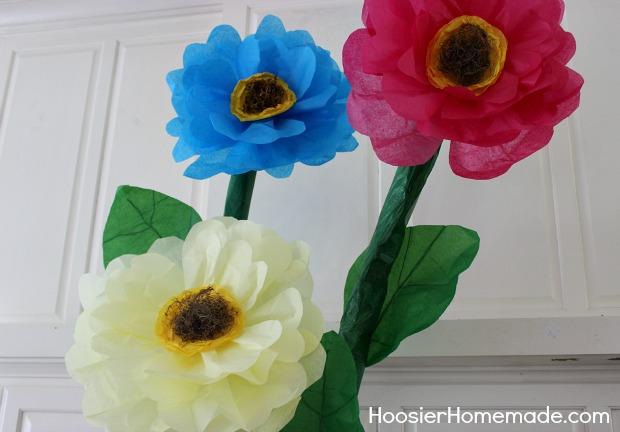 How To Make Giant Tissue Paper Flowers Hoosier Homemade