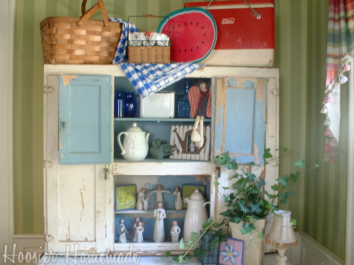Decorating With An Antique Galvanized Chicken Feeder And A