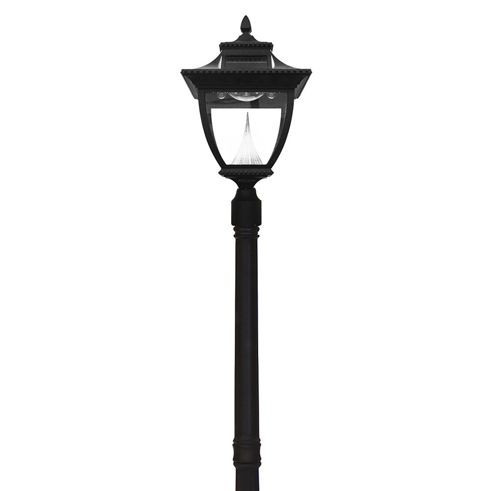 Solar Lamp Post Pagoda Solar Lamp Post Single Black