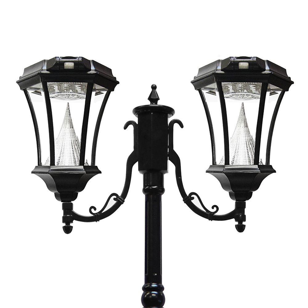 Solar Lamp Post Victorian Solar Lamp Post Double Black
