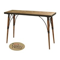 Rustic Wood And Metal Sofa Table | www.energywarden.net