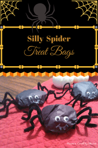 Silly Spider Treat Bags made at Hope's Crafty Niche are perfect for your little ghosts and goblins this Halloween!!