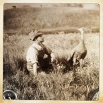 a man and a bird (part of an extraordinary series...) 1930s-40s