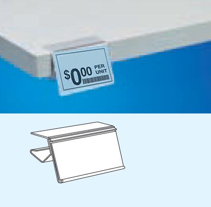Wood Laminate Shelf Label Ticket Holders Hopp Companies