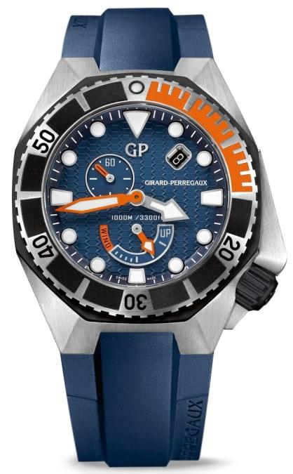 Girard-Perregaux Sea Hawk azul con correa de caucho